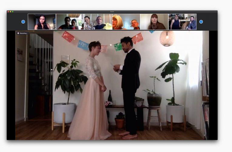 [香港婚禮新聞] 在冠狀病毒大流行期間,醫生通過Zoom主持護士的婚禮